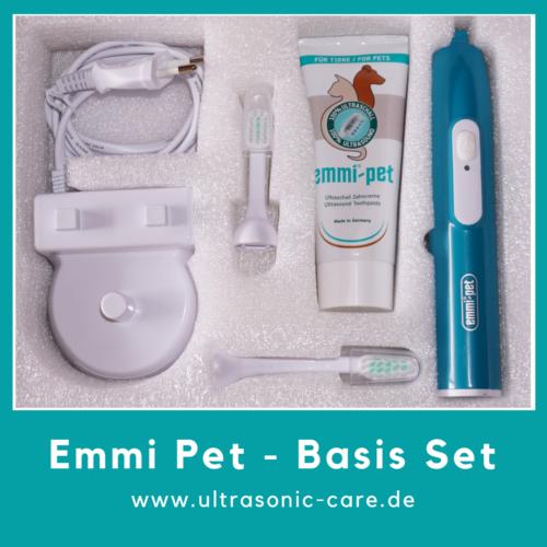 Emmi Pet Basis Set mit Ladestation, Handteil, Bürstenköpfen und Zahncreme